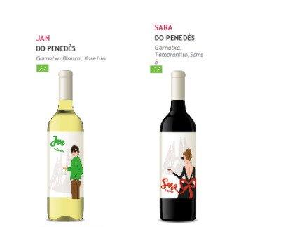 Vinos Bodega By Sheila. Vino blanco y vino tinto Denominación de Origen Penedès