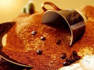 Café soluble. Café en grano y soluble, italiano