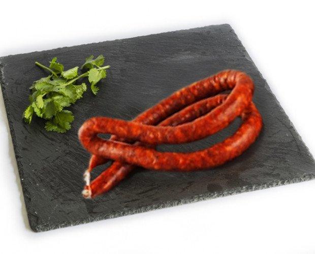 Chistorra de Arbizu. Se elabora con carne de cerdo, bien sea de papada o de panceta