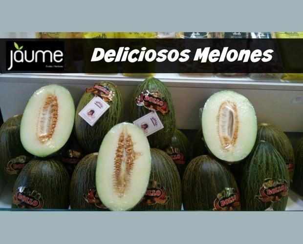 Melones frescos. Deliciosos melones
