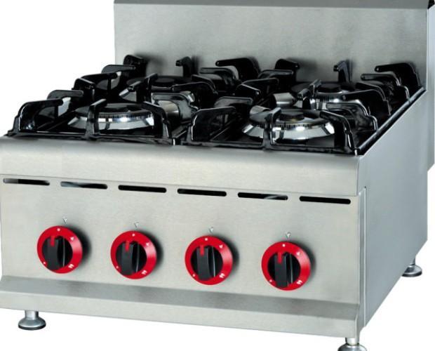 Cocinas Industriales.Cuatro fuegos