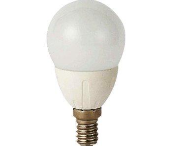 Bombilla LED esférica. Tiene un gasto energético mínimo