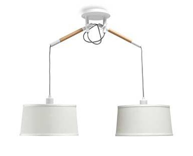 Lámpara blanca. Diseño único