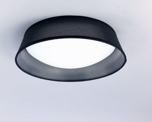 Plafón LED negra. Un plafón para dormitorios o salones