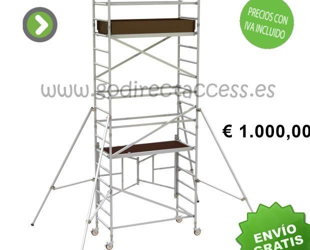 Andamios y Escaleras Móviles.GDA250 Andamio movil de aluminio, 3,5 mts