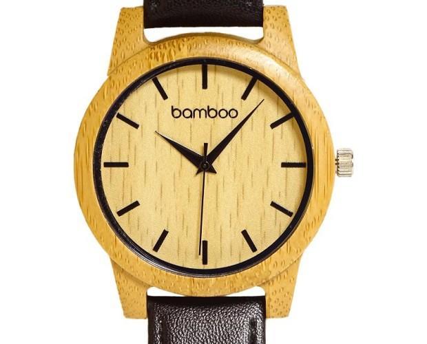 Stylish watch. Piezas únicas hechas con bambú ecológico