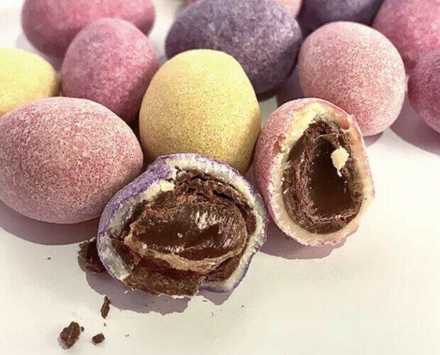 Chocolate con corazón de caramelo. Versallesas variedad chocolate