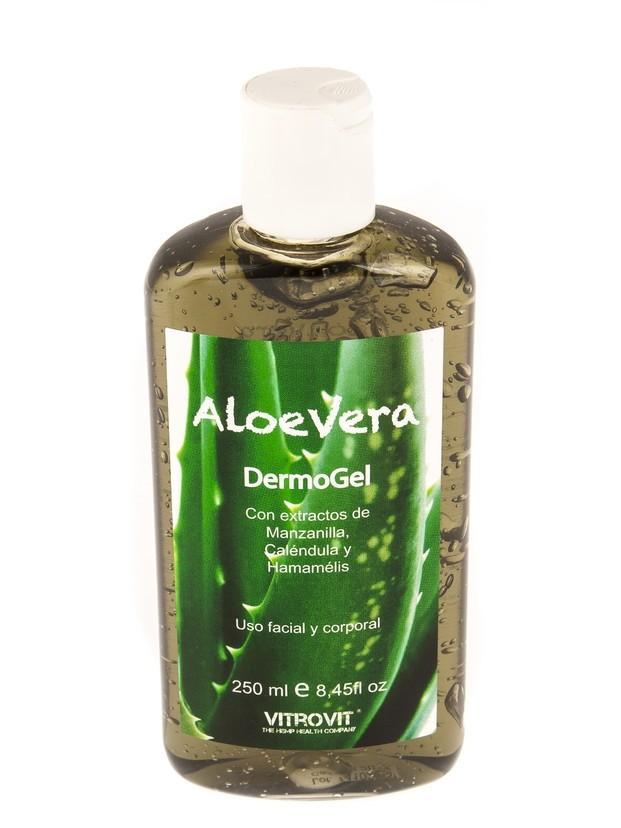 Aloevera Dermogel. Con extractos de manzanilla,caléndula y hamamelis