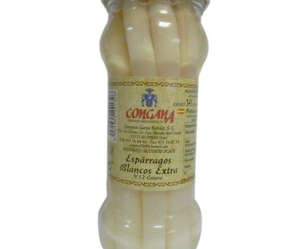 Esparrago Blanco Extra. Espárrago blanco extra 9/12 frutos.
