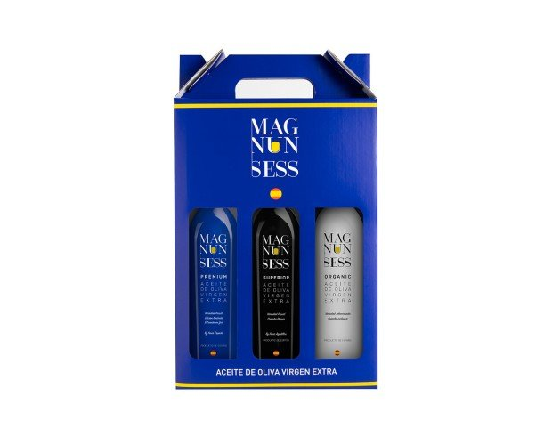 Pack 3 Magnun Sess. 3 variedades de nuestro AOVE en Vidrio 500 ml