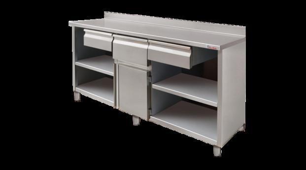 Mobiliario de acero inoxidable. Proveedores de mueble cafetero