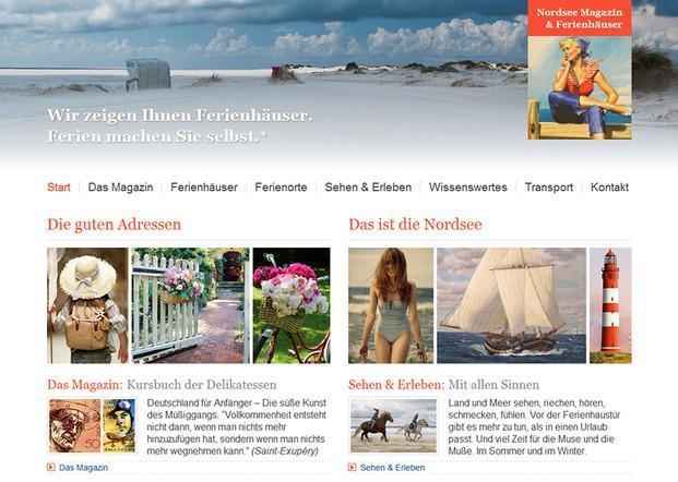 Magazine. Magazine de la zona turística del Norte de Alemania