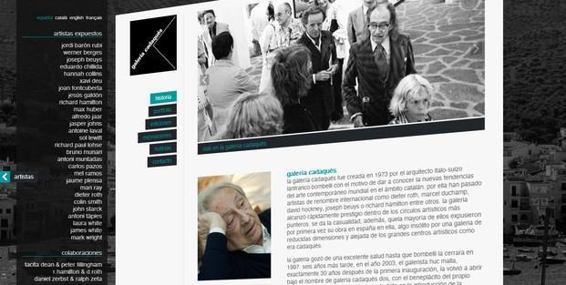 Gestor de contenidos. Web de la Galería Cadaqués - Gestor de contenidos