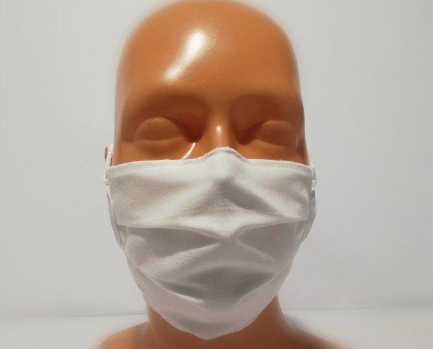 Mascarilla Tipo Quirúrgica. Fabricadas con  tejido 7532 AMS utilizado en doble capa
