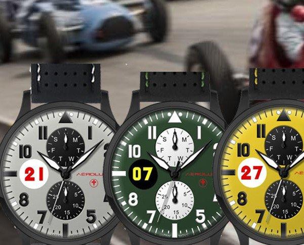 Window. Relojes de piloto de carreras