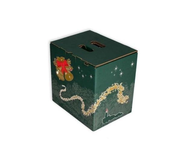 Caja cartón navidad