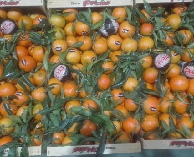 Manzanas.Mandarinas frescas