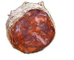 Morcón ibérico. Elaborado con magros del cerdo ibérico en temporada