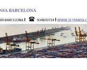 pie correo Setransa. Vista gral. del puerto de Barcelona, sede central de Setransa.