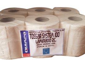 Papel secamanos. Pasta celulosa laminada