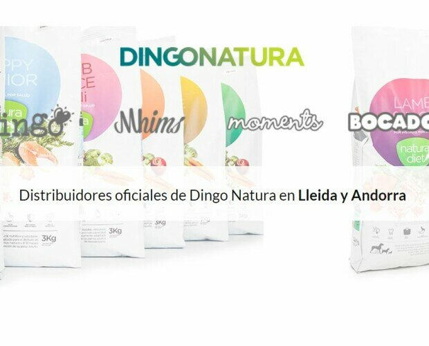Distribuidor DingoNatura en Lleida. Distribuidores oficiales de Dingo, Natura Diet, Mhims, Moments, Bocados, Healsty