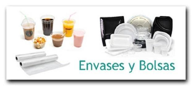 Envases. Vasos, platos, cubiertos, bandejas