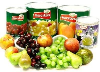 Conservas. Frutas y verduras