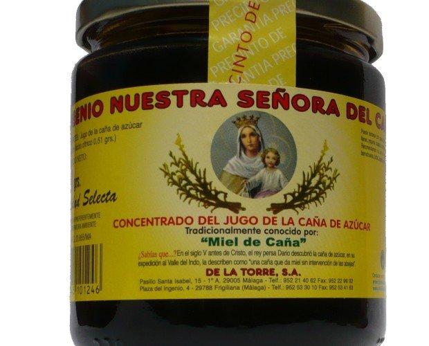 Miel de caña tradicional. Caja con 12 botes de 460 gramos