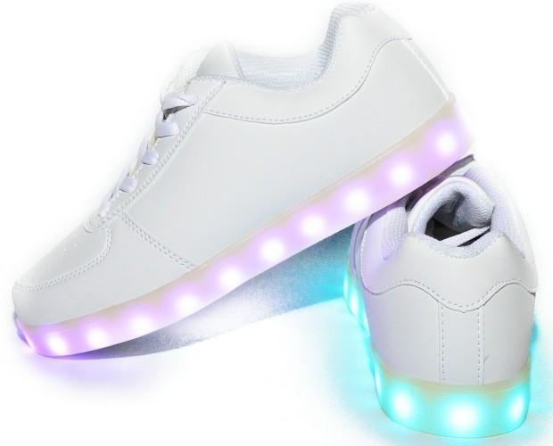 Calzado Infantil. Zapatillas con Luces para Niñas. Zapatillas con luces color blanco 11 modelos