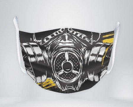 Mascarilla gas mask. La mascarilla cumple con las especificaciones UNE 0065:2020