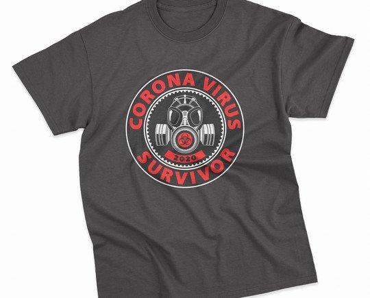 Coronavirus survivor. Camisetas Unisex con motivo COVID-19.