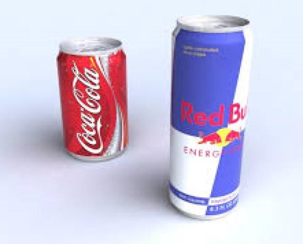 Refrescos y bebidas energéricas. Red Bull y Coca Cola