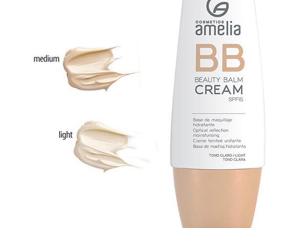 BB Cream. Factor de protección SPF15, acabado luminoso