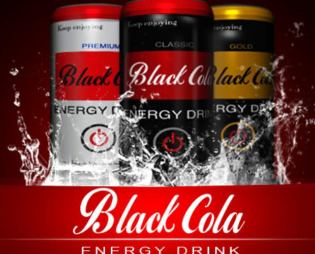 Bebidas energéticas. Black Cola Energy Drink