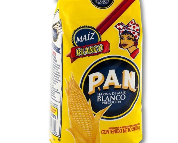 Harina de maíz. Harina de maíz blanco precocido