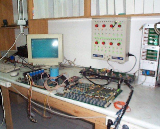 Estación de trabajo. Reparación control aerogenerador de 300kW