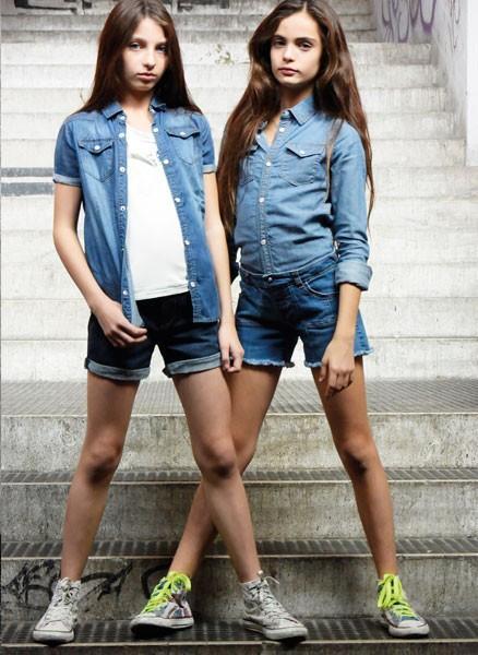 Camisas y pantalones cortos. Colección para niñas verano 2015