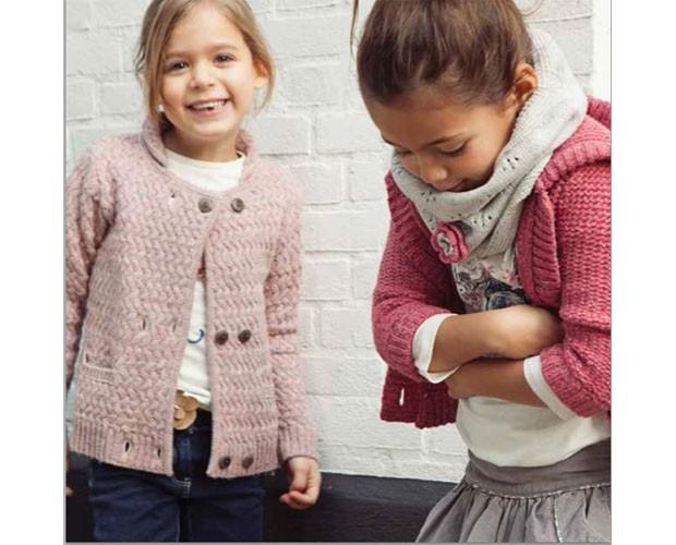 Chaquetas tipo cardigan. Colección otoño 2015 para niñas