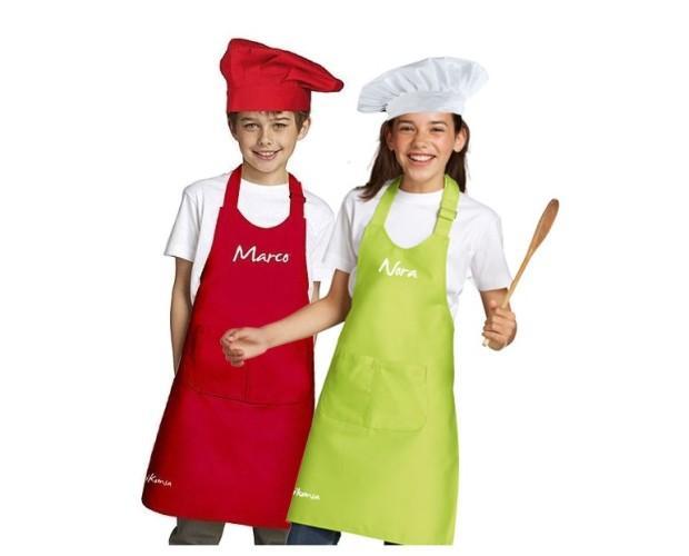 Delantales Infantiles.Conjunto personalizado para niños