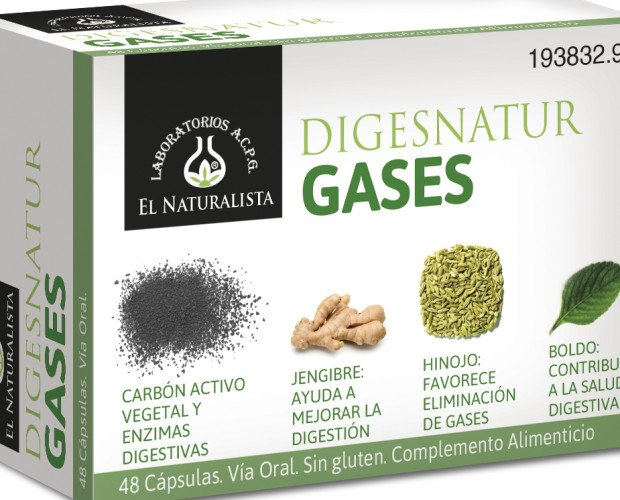 Digesnatur GASES. Complemento nutricional digestivo