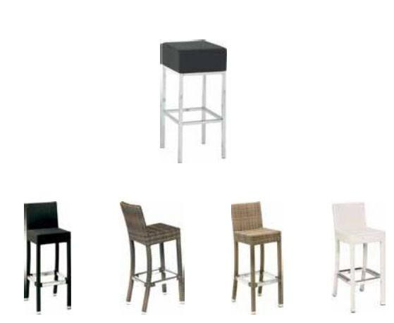 Taburetes.Taburetes, sillas, mesas