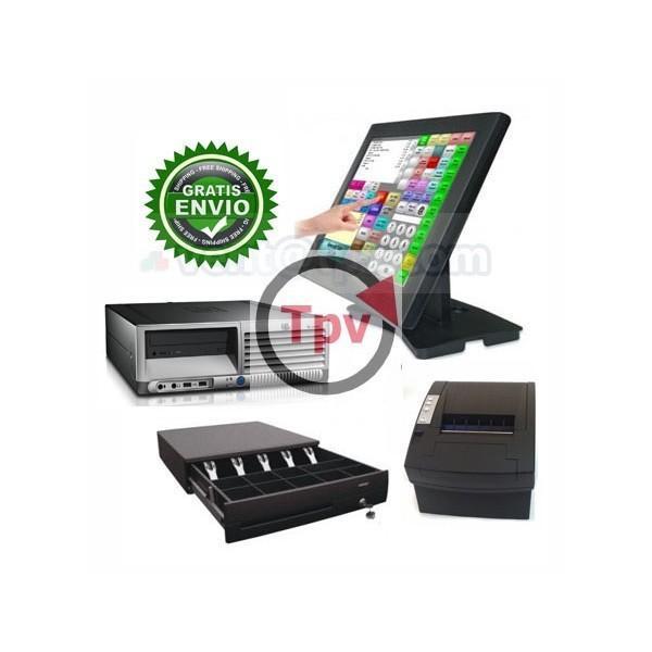 Pack TPV para hostelería. Software, impresora, pantalla, cajón
