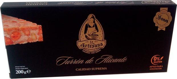 Chocolate y Dulces. Turrones. Turrón de Alicante con D.Origen.