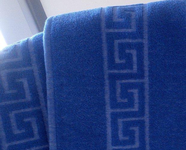 Toalla greca azul. Toalla greca azul, muy resistente y duradera, especial hostelería.