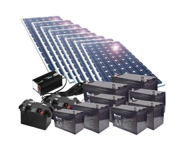 Energía Solar.Baterias, paneles solar, paneles fotovoltaicos