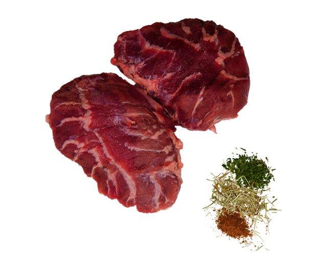 Carrillera ibérica. Carne jugosa, debido a su infiltración de grasa intramuscular y muy gelatinosa
