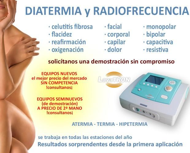 Aparatología Estética. Equipos de Radiofrecuencia Estética. Equipo de radiofrecuencia por Diatermia.