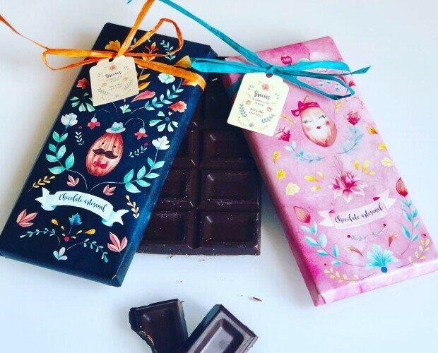 Tabletas de Chocolate.Chocolate artesano, personalizado para chica o chico.