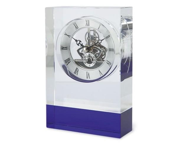 Reloj cristal. Con banda azul