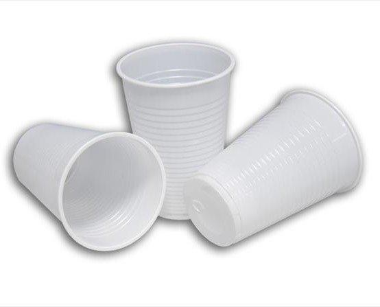 Vasos plásticos. Desechables
